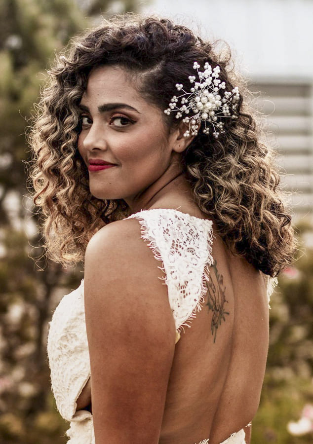 ombre Curly hairstyles for long hair for wedding