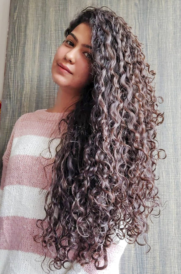 indian Curly Hairstyles for Long Hair