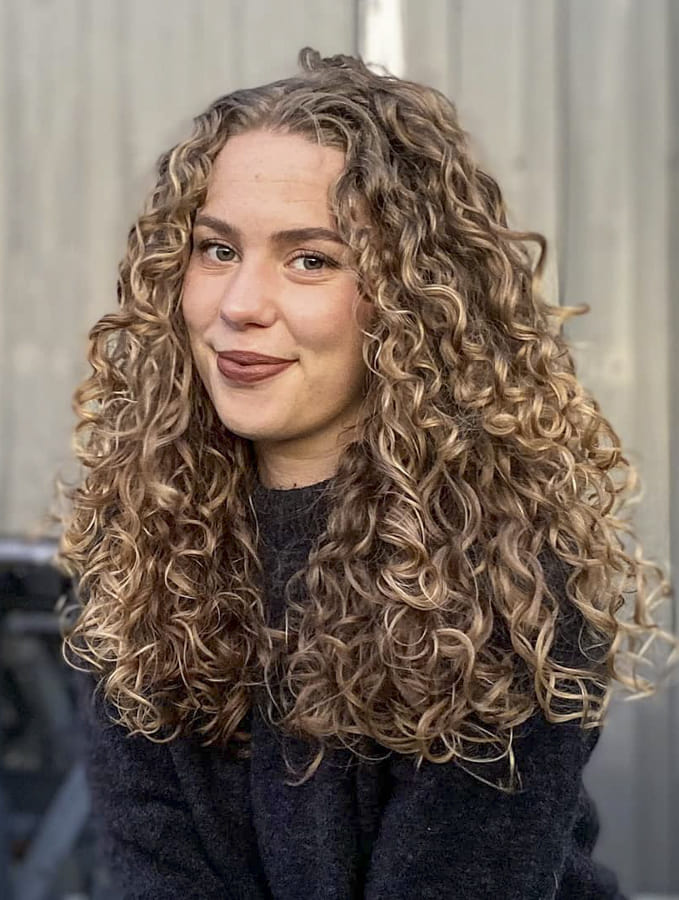 blonde Curly hairstyles for long hair simple