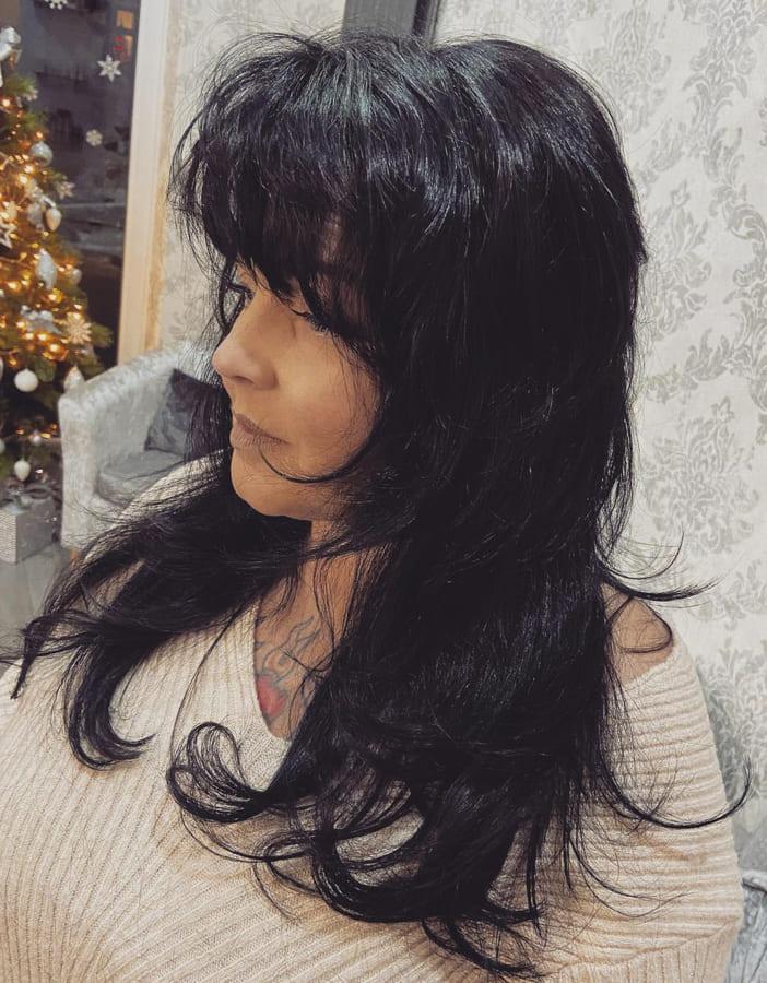 layered choppy shoulder length hair (1)