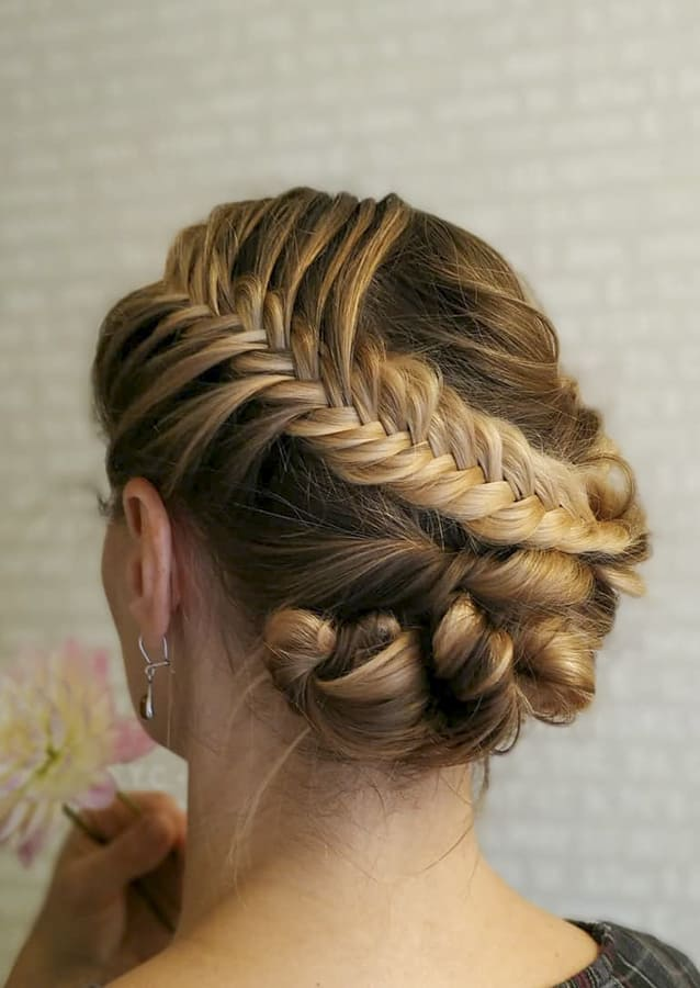 pinned up hairstyles for long hair (1)
