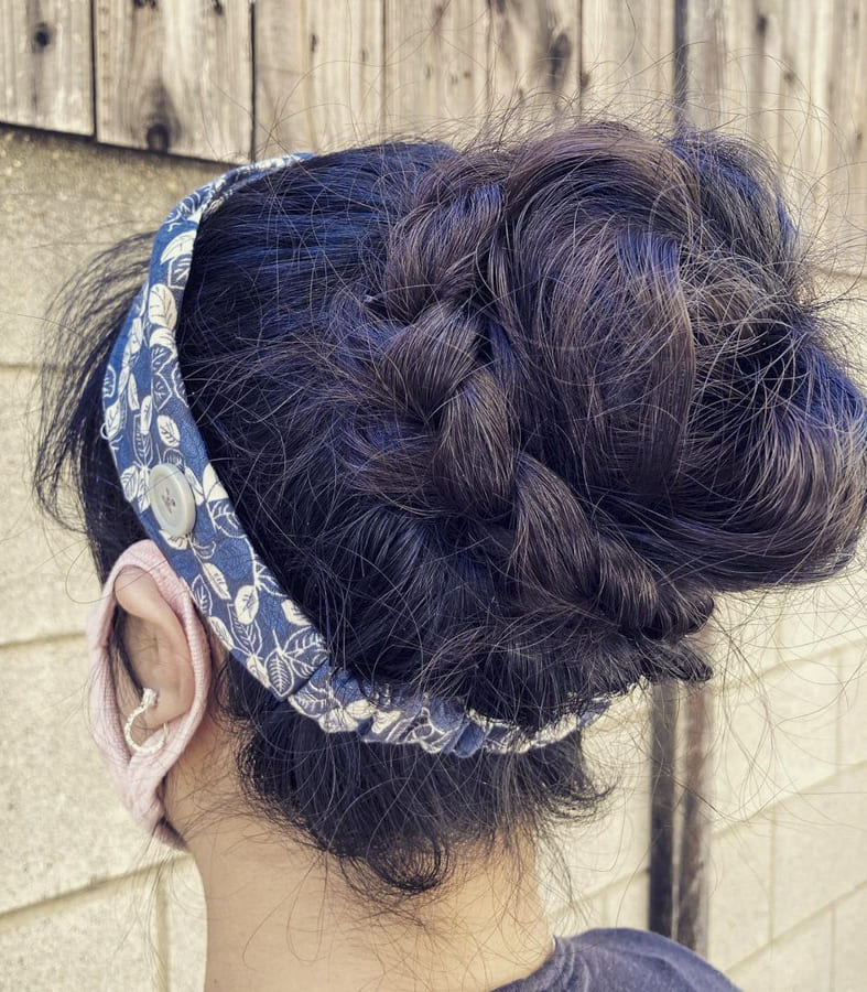 pinned up hairstyles for long hair (2)