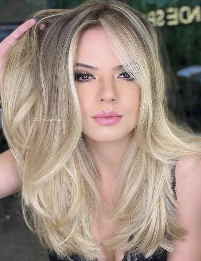 Blonde ombre medium hairstyles