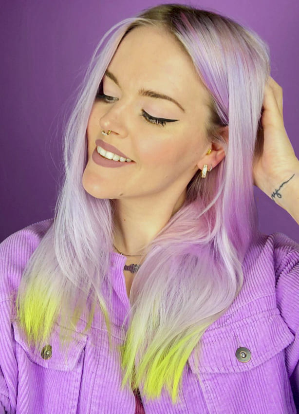 pink and green hairstyles thin hair