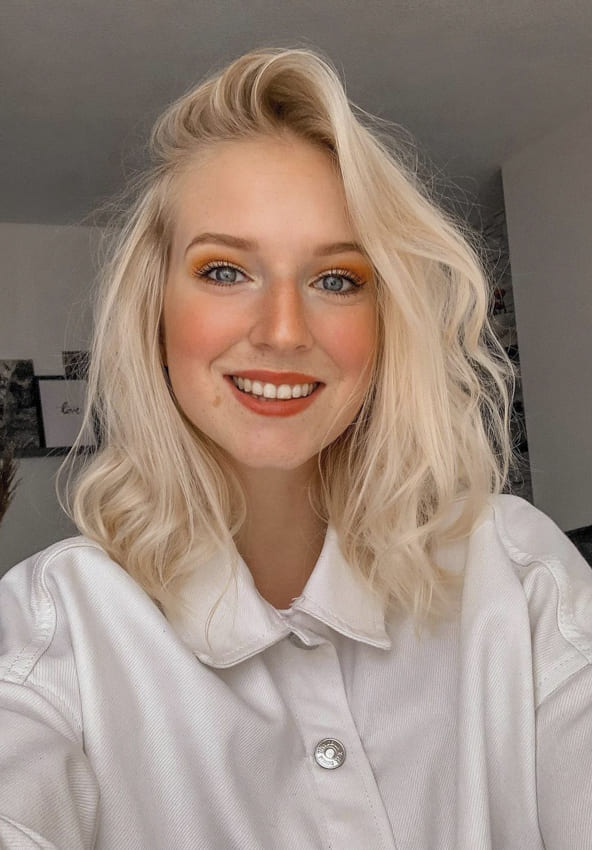platinum blonde hairstyles thin hair