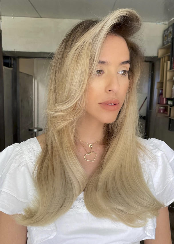 platinum blonde ombre long easy hairstyles