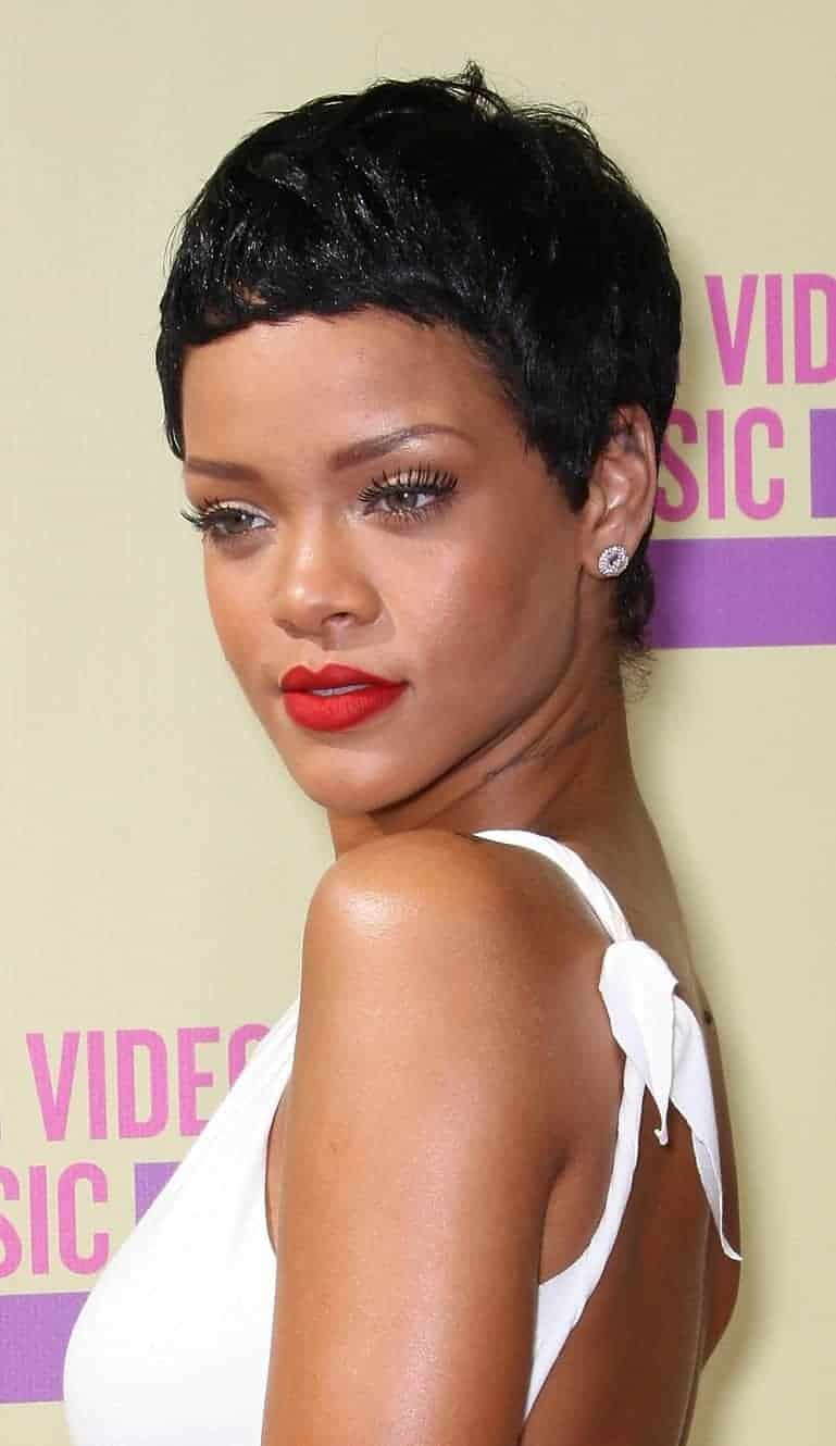 Rihanna Short Pixie Black Women Hairstyles