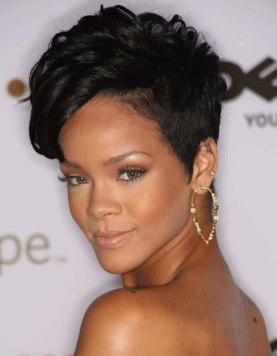 Rihanna short black hairstyles 2018