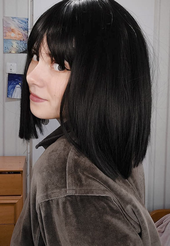short bob with bangs black hairstyles