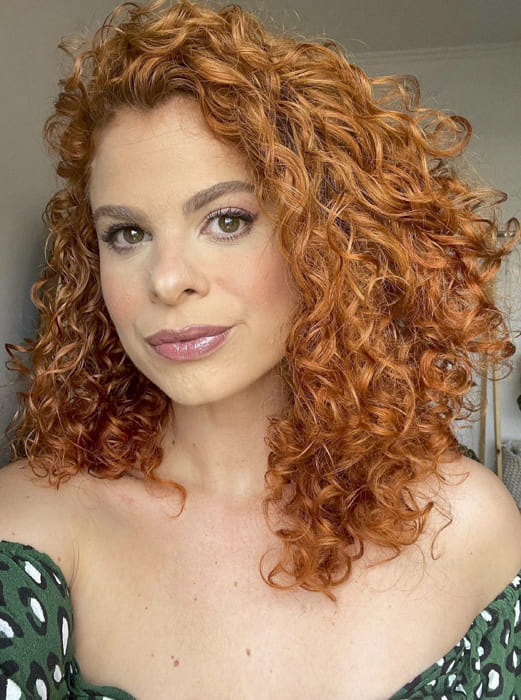 Red Curly medium hairstyles