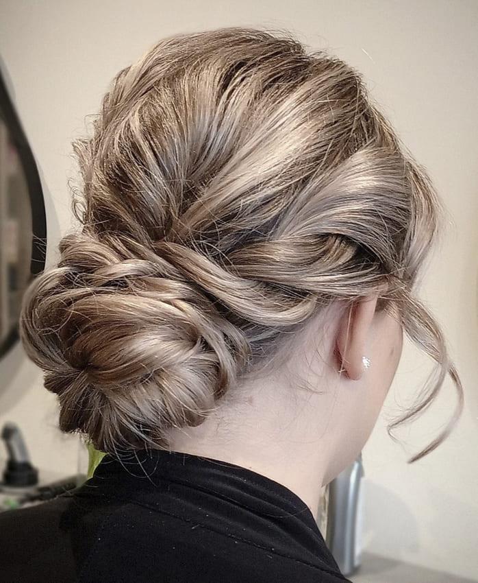 medium blonde updo prom hairstyles
