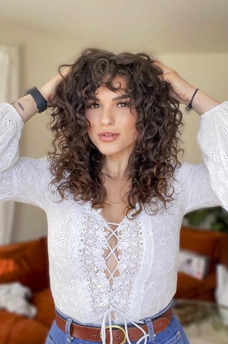medium shoulder Curly medium hairstyles