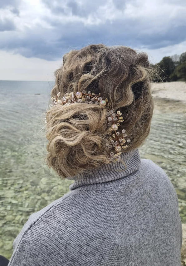 messy ombre updo prom hairstyles