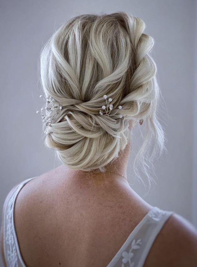 platinum blonde updo prom hairstyles