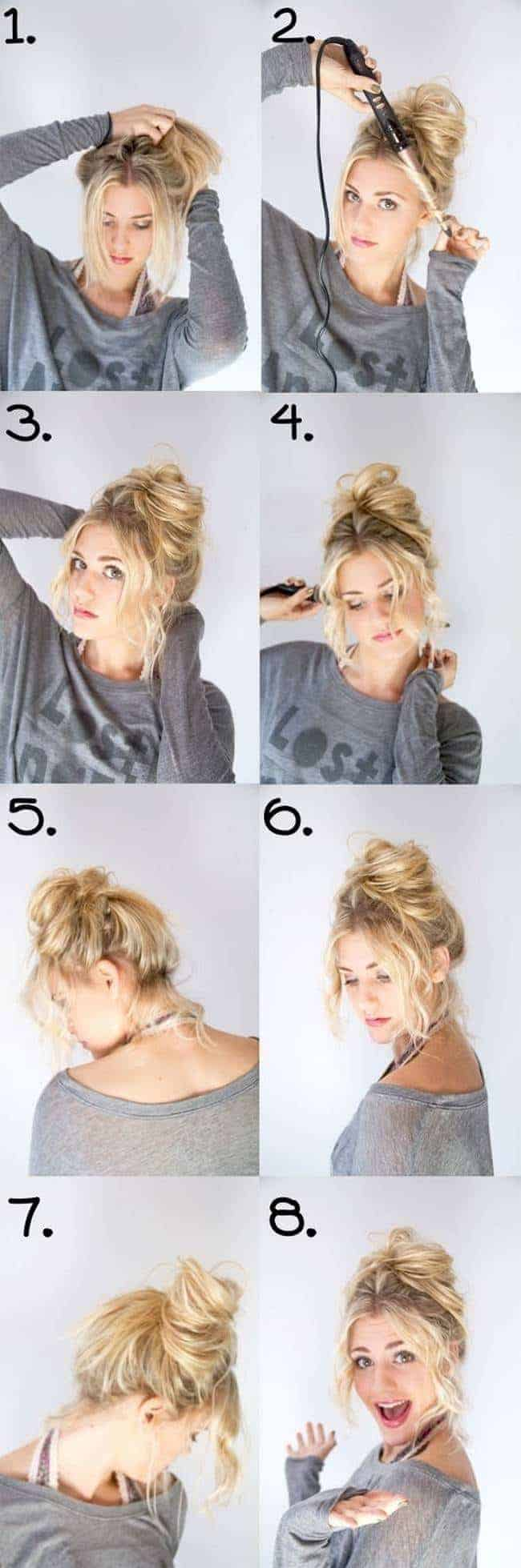 Easy updo hairstyles step by step