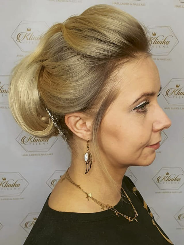 Blonde ombre over 40 updo hairstyles