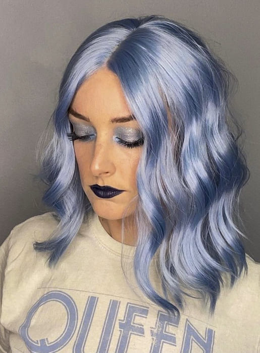 Blue medium awesome hairstyles for thin hair