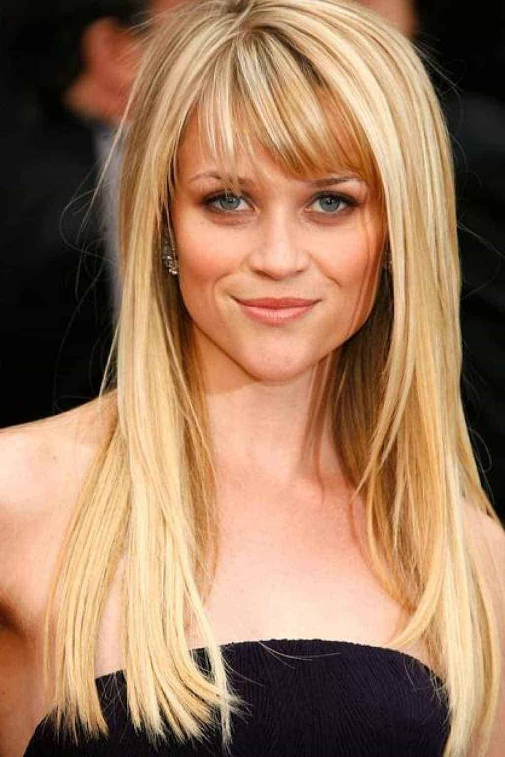 Bonde Straight Hair With Long Hairstyles With Bangs