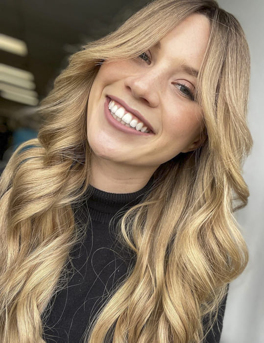 Long blonde hairstyles for thin hair