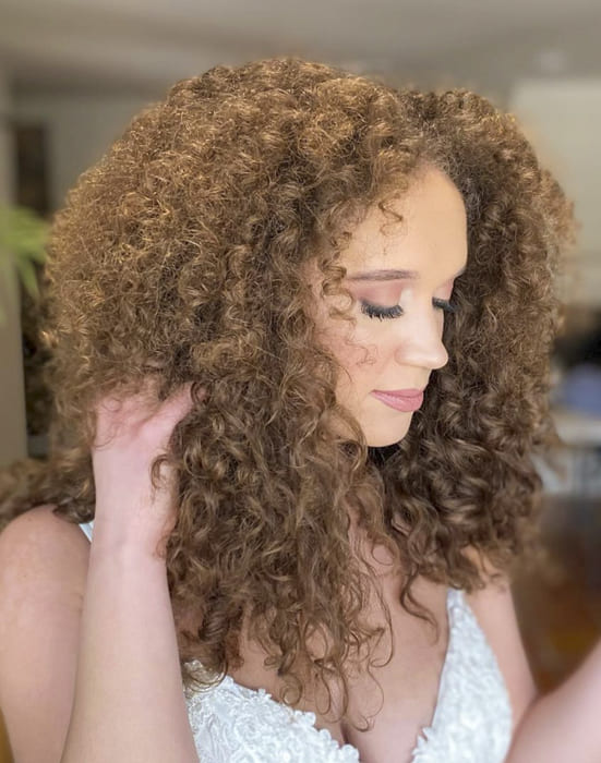 Long curly bridesmail hairstyles