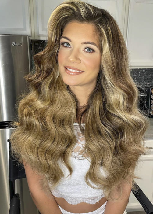Long ombre wavy bridesmail hairstyles