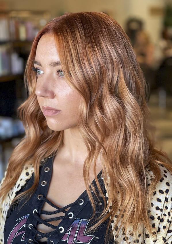 Medium red layered hairstyles