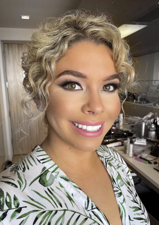 Ombre curly blonde updo hairstyles