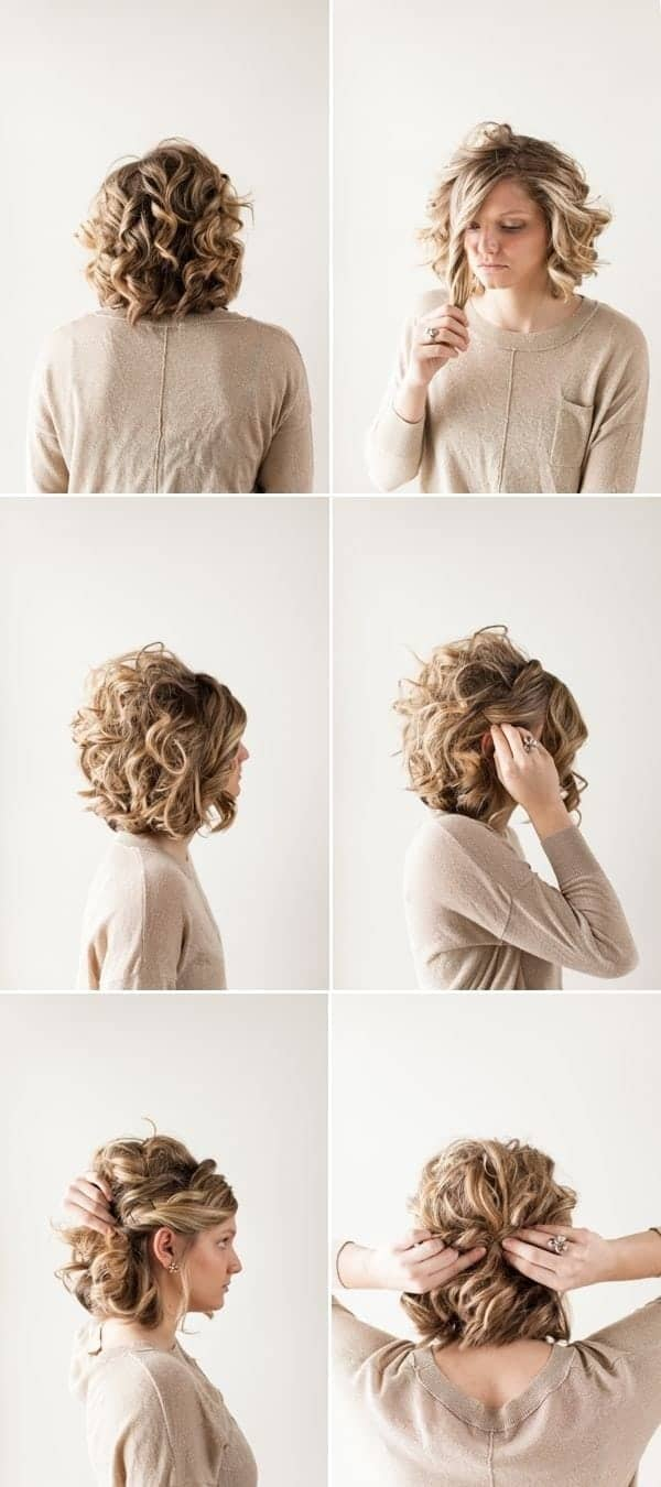 Short bridesmaid hairstyles