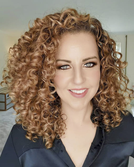 Red hair for long curly hairstyles for white women