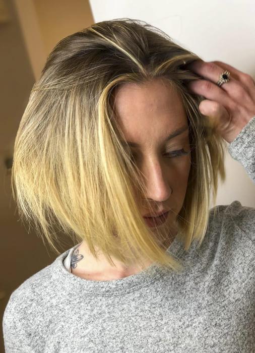Short blonde bob chin length hairstyles