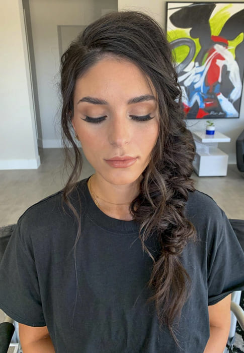 Side fishtail ponytail braided hairstyles