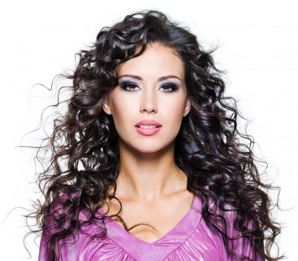 Long Curly Hairstyles with black hair color