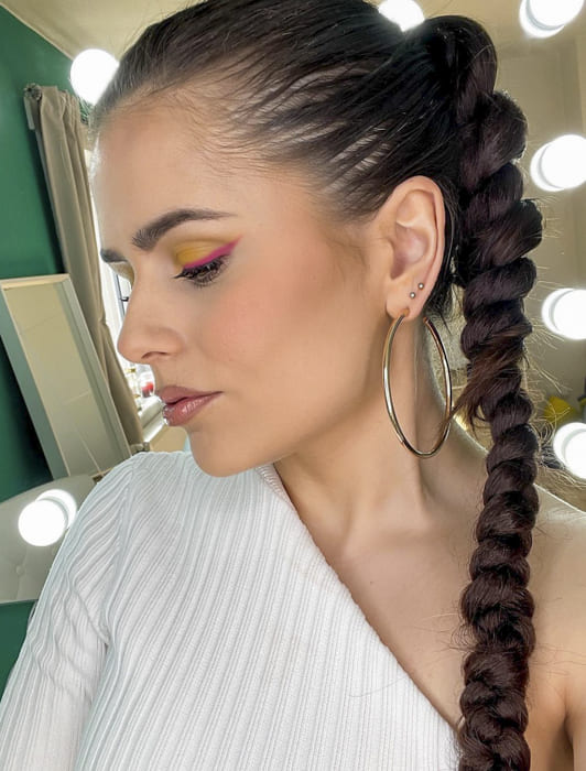 long ponytail black braided hairstyles