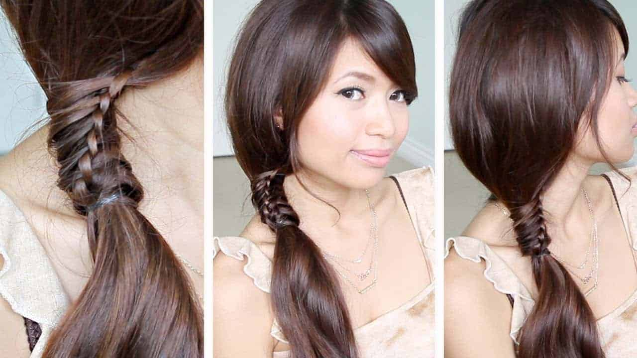 Ponytail hairstyles for Asian school girls