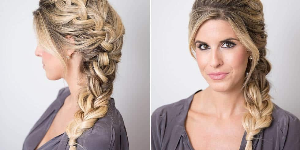 Long Braided fishtail hairstyles