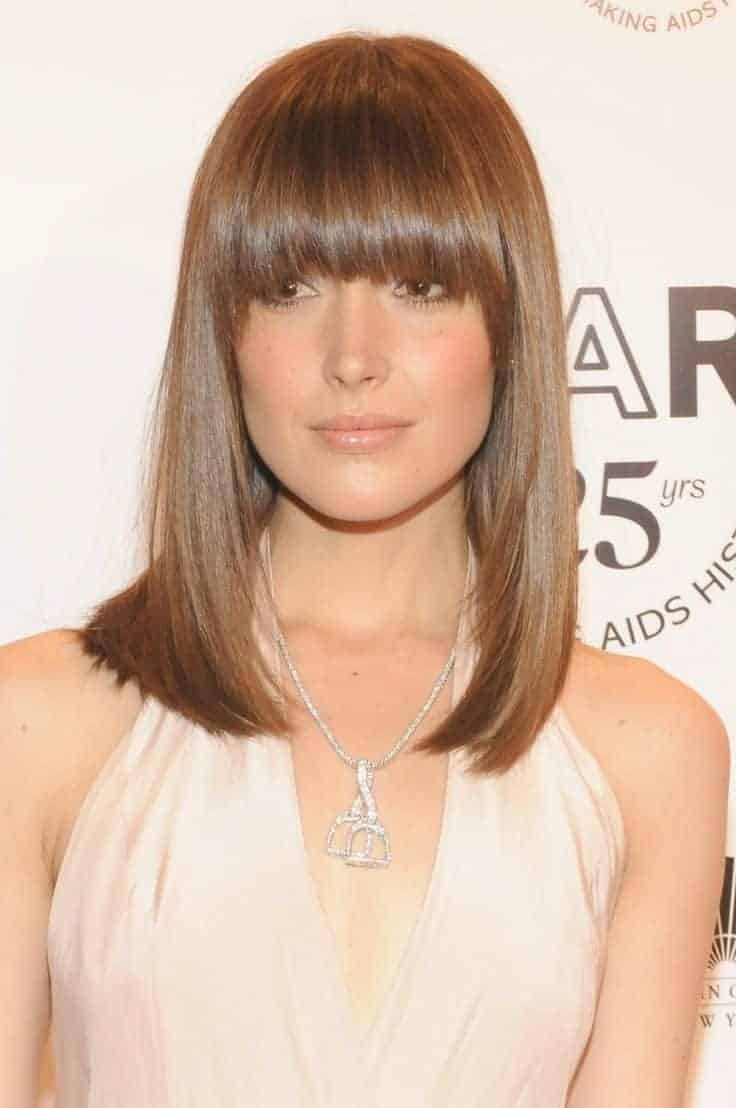 2018's most popular straight hairstyles with bangs - Womenstyle.com