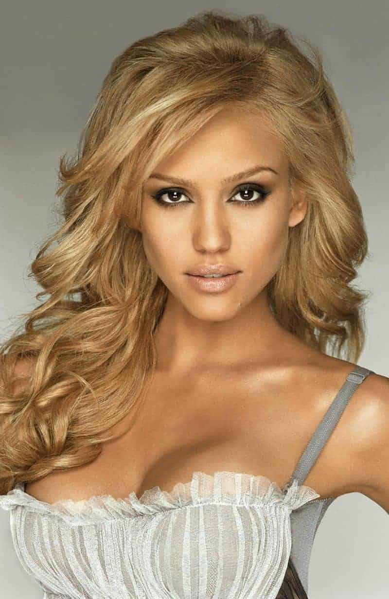 Jessica Alba Long curled hairstyles 2019