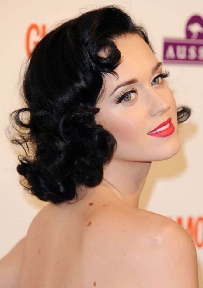 Katy Perry Short retro hairstyles for bridesmaid
