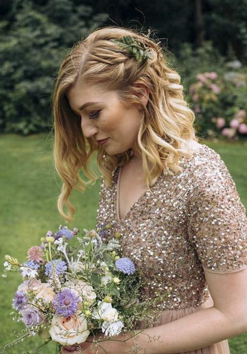 short bob blonde bridesmaid hairstyles