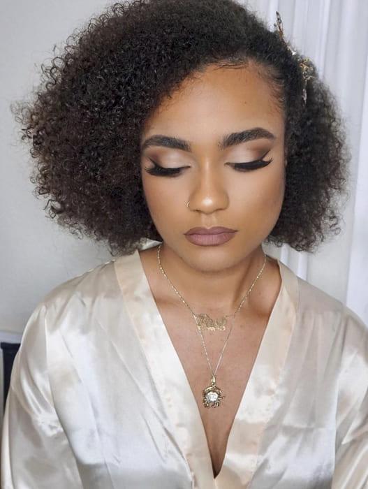 short curly bridesmaid hairstyles