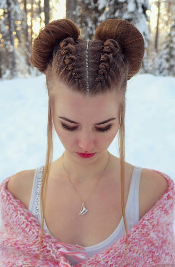 two bun updo hairstyles