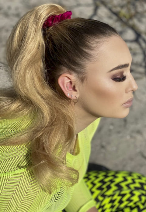 Long ombre ponytail hairstyles