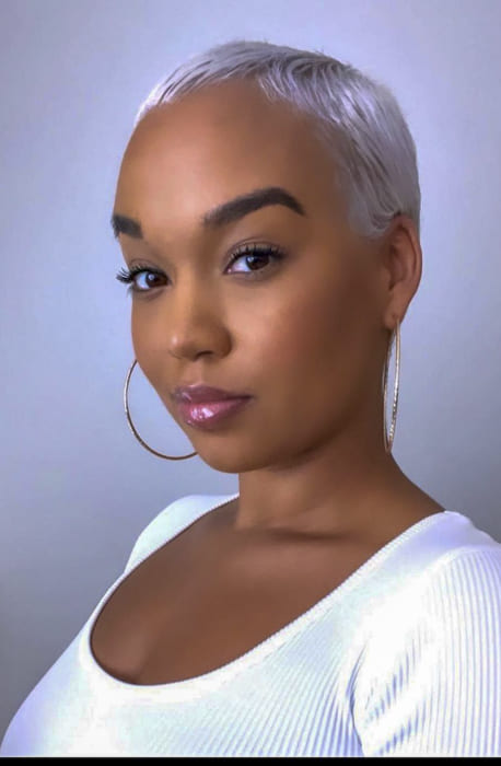 Short gray pixie hairstyles for black women