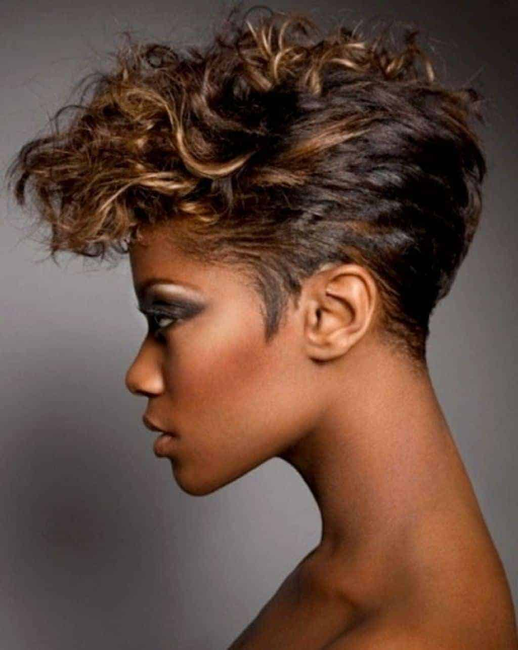 Short messy natural hairstyles for black women