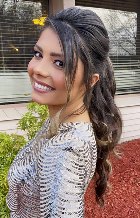 long ponytail hairstyles for wedding or prom