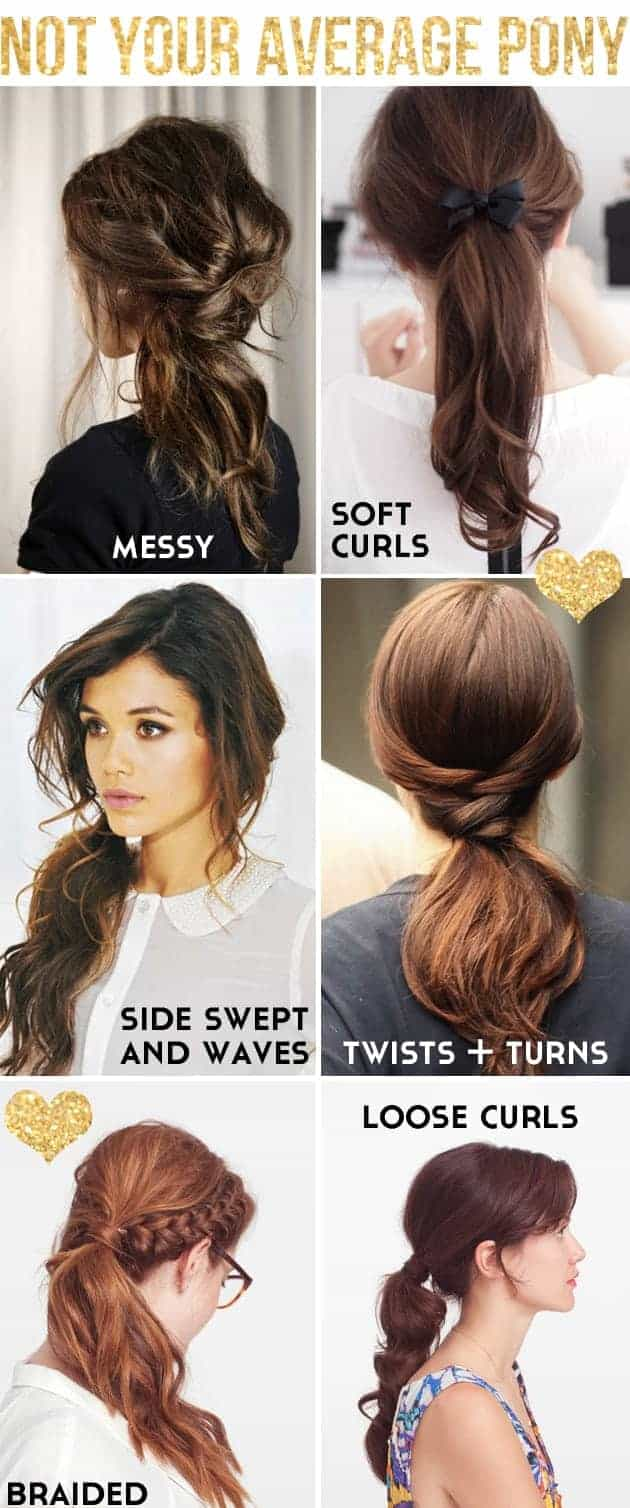 Ponytail hairstyles your average