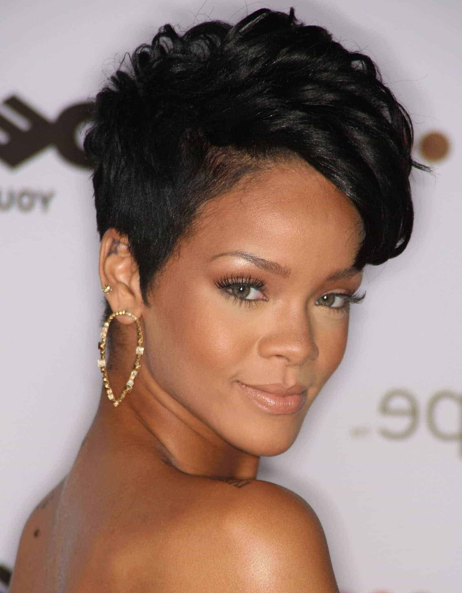 Rihanna Short natural hairstyles