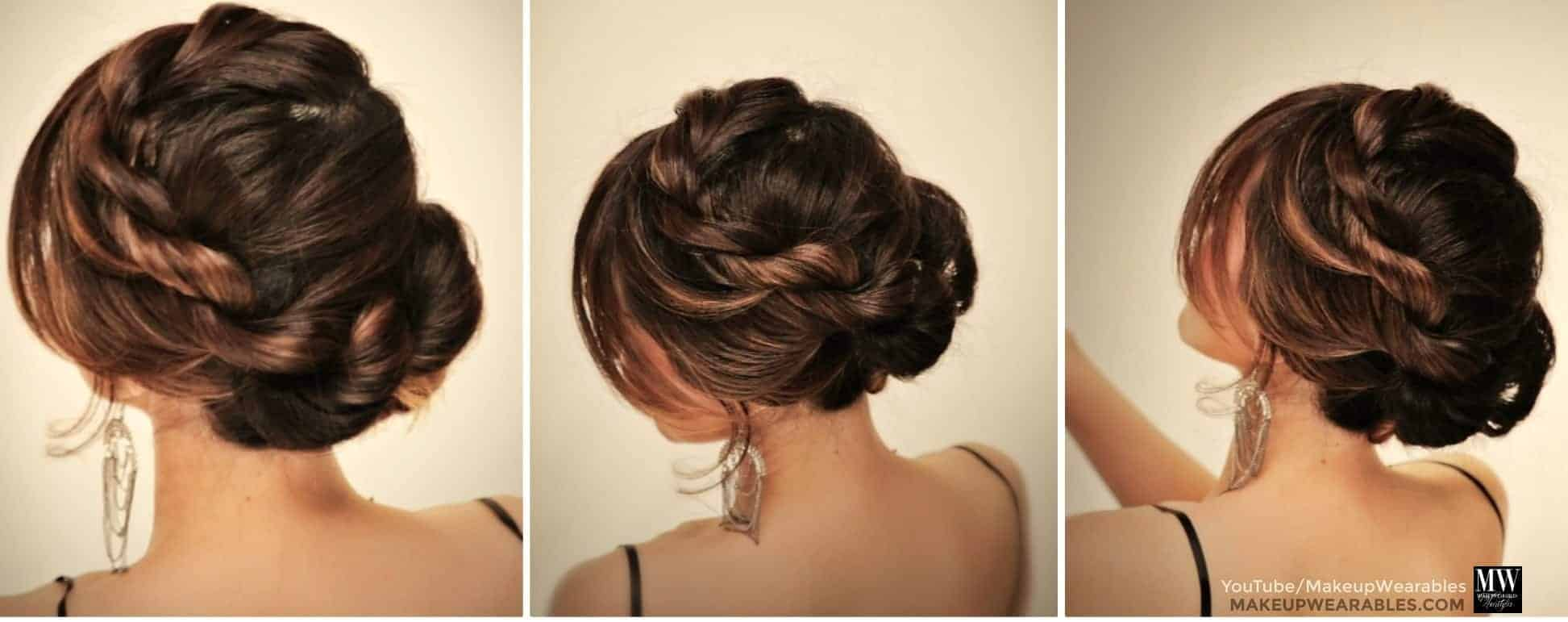 Elegant messy hairstyles for prom