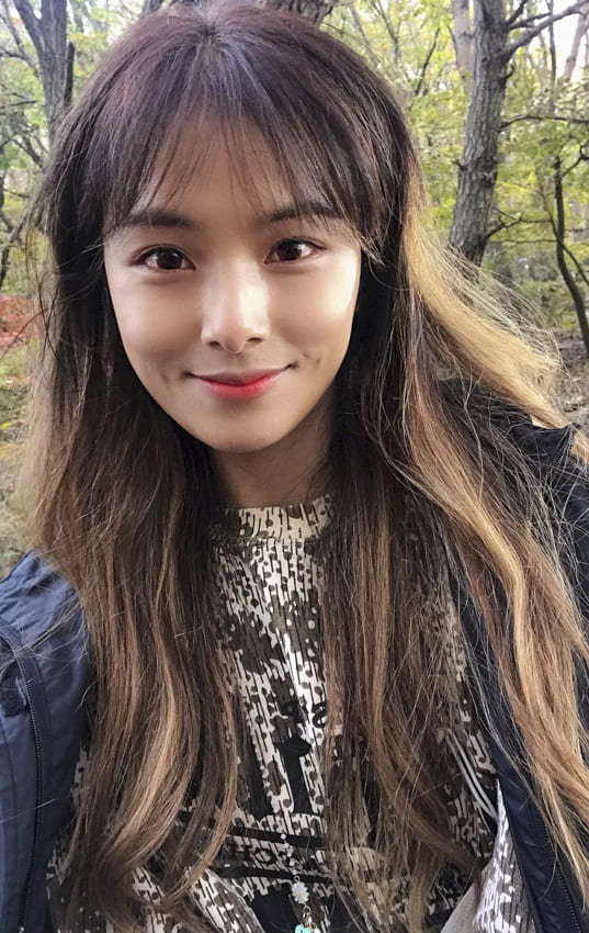 Asian long hairstyles with bangs