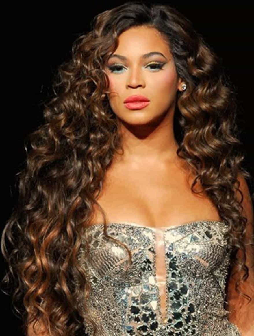 Beyonce Long curly Hairstyles for black women